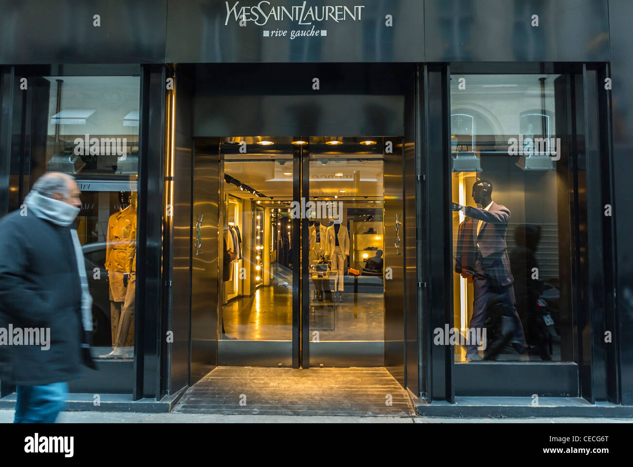 763a5db19336b Paris, France, Luxury Fashion Brands, Shop Front,