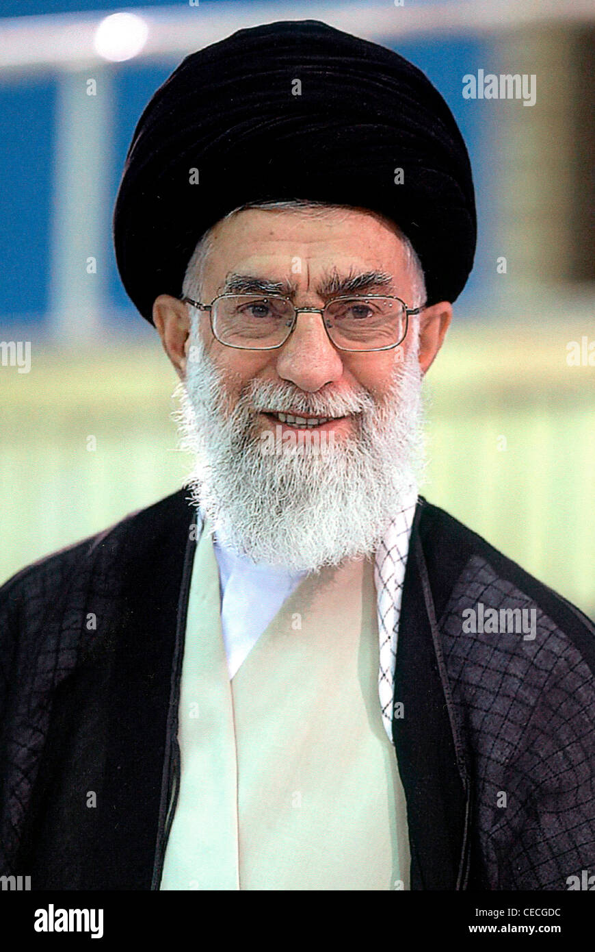 Ayatollah Seyyed Ali Khamenei - *17.07.1939: Portrait of the Religion leader of the Iran of 2007. Stock Photo