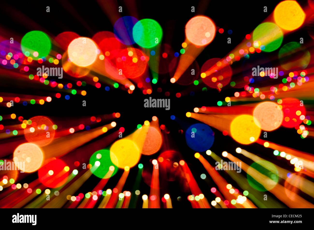 Christmas lights abstract - Stock Image
