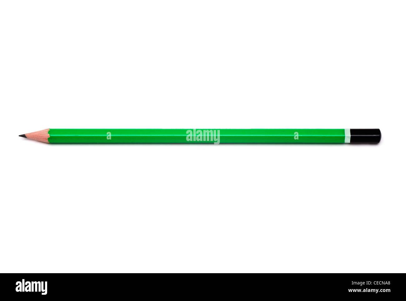 Pencil on white background - Stock Image