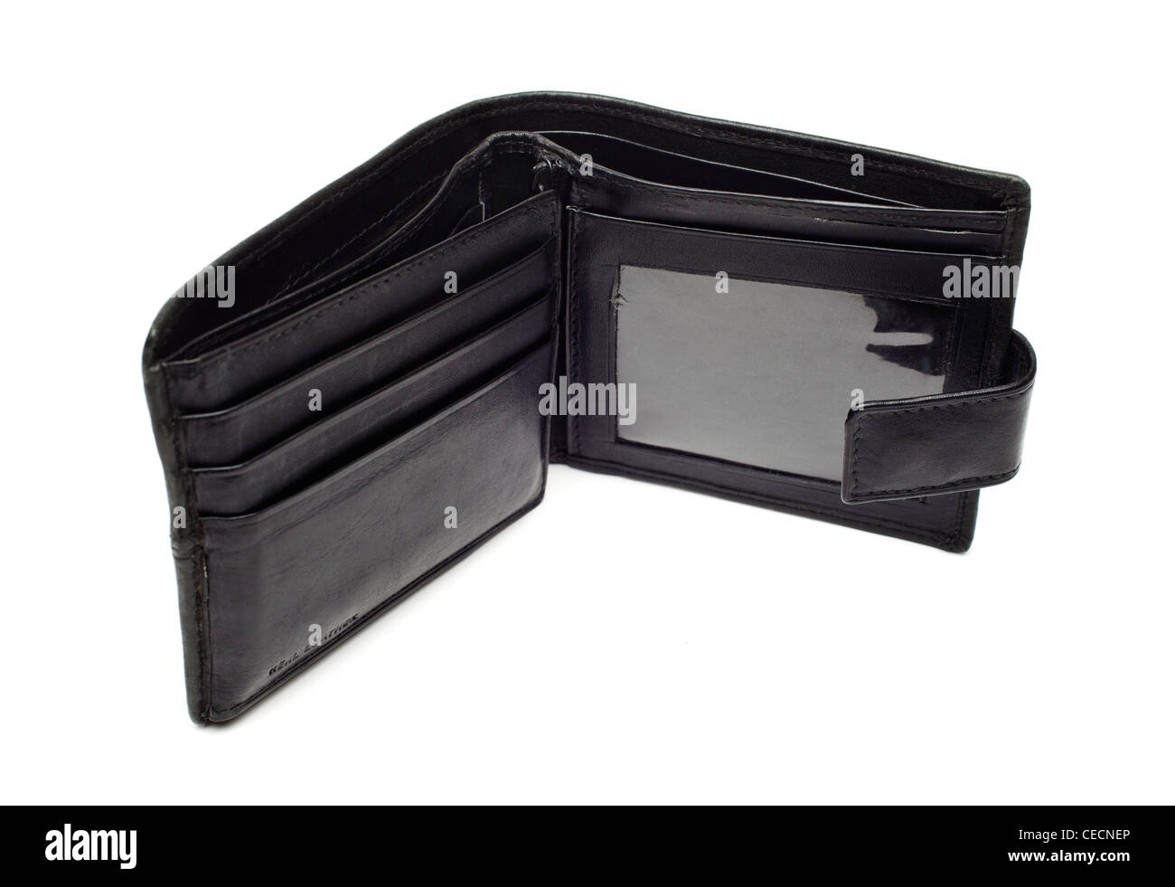 Empty wallet on white background - Stock Image