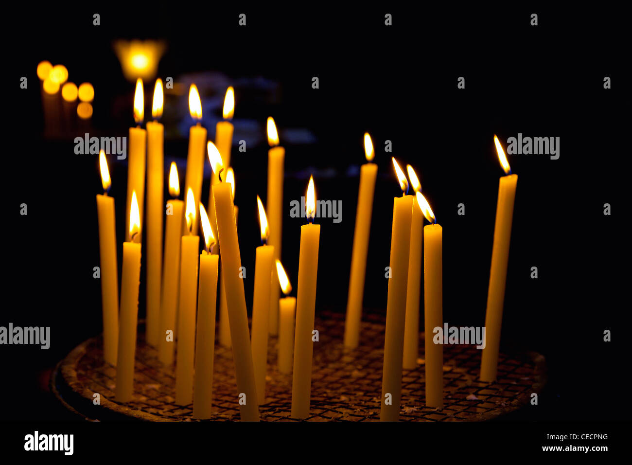 Church candles - Stock Image