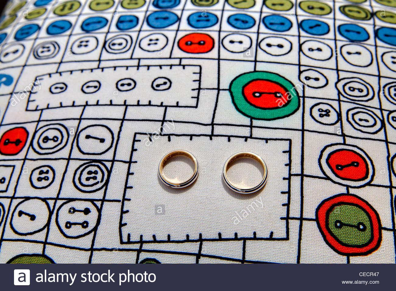 Wedding rings - Stock Image