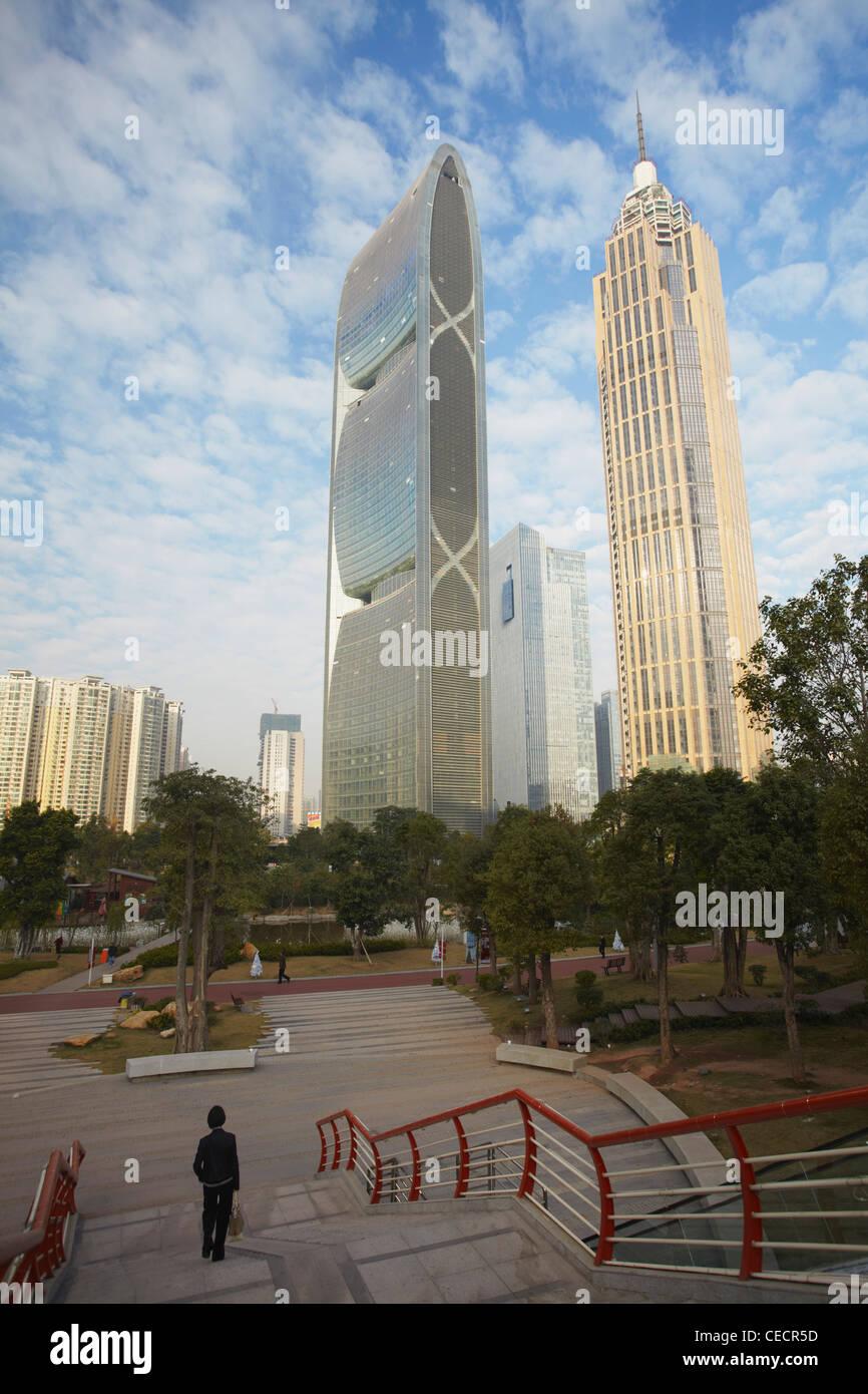 Pearl River Tower, Zhujiang New Town, Tianhe, Guangzhou, Guangdong, China - Stock Image
