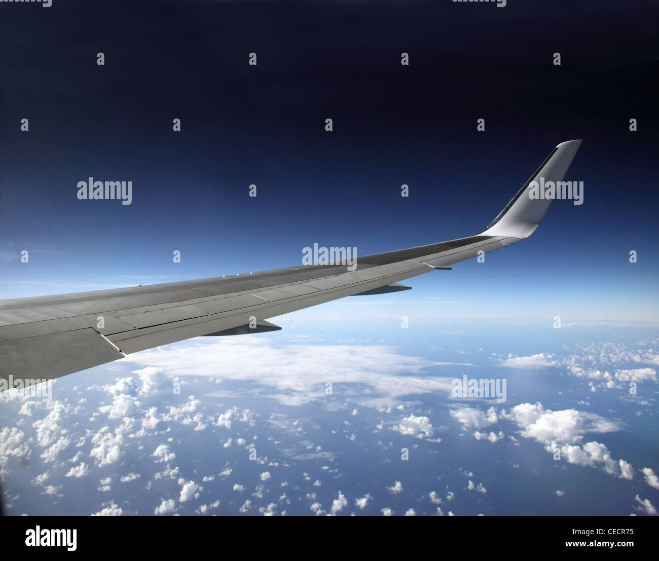 Raked wing tip of a Boeing 767 - Stock Image