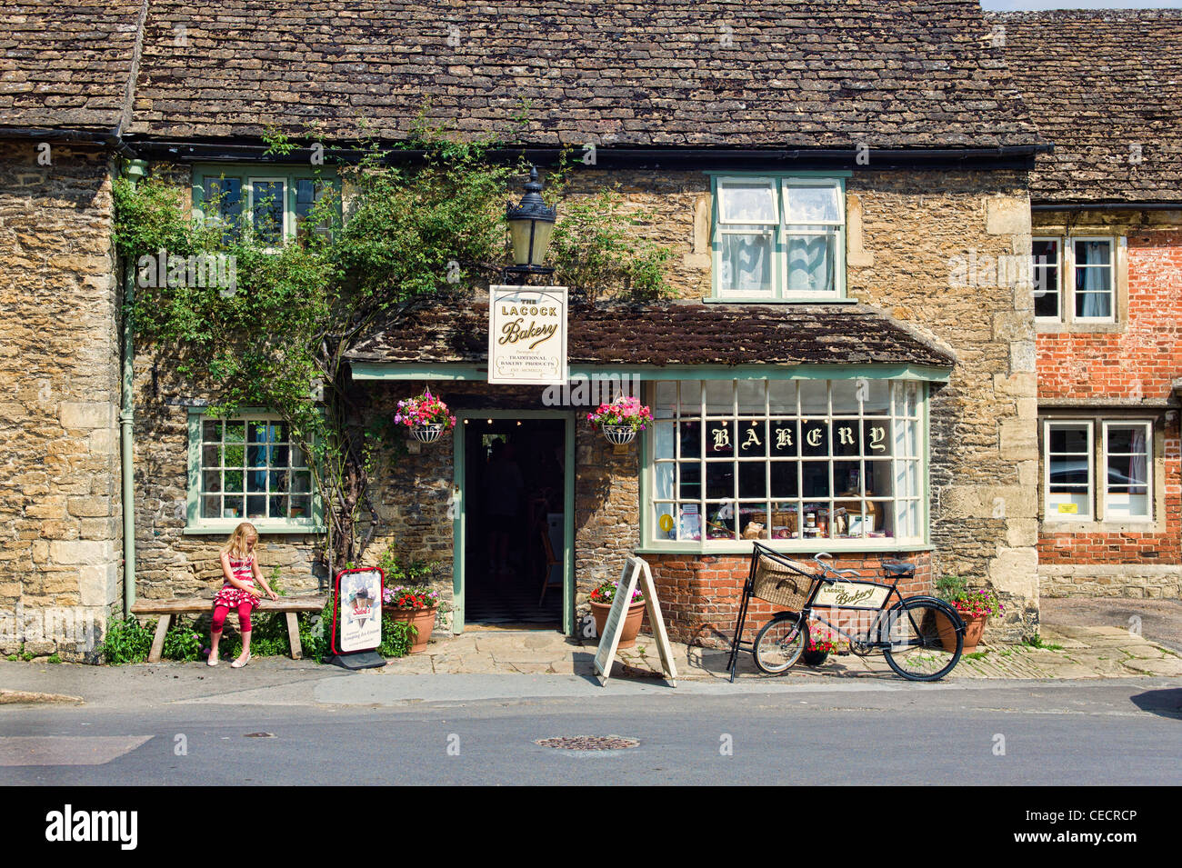 The Old Bakery Shop In Lacock Village Wiltshire England Uk