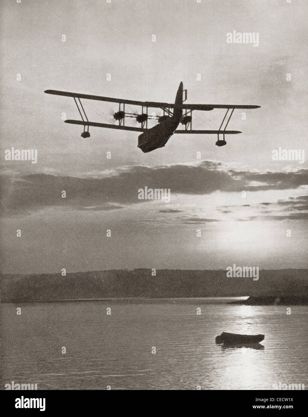 An Imperial Airlines Scipio Class flying boat c.1931. From The Story of 25 Eventful Years in Pictures, published - Stock Image