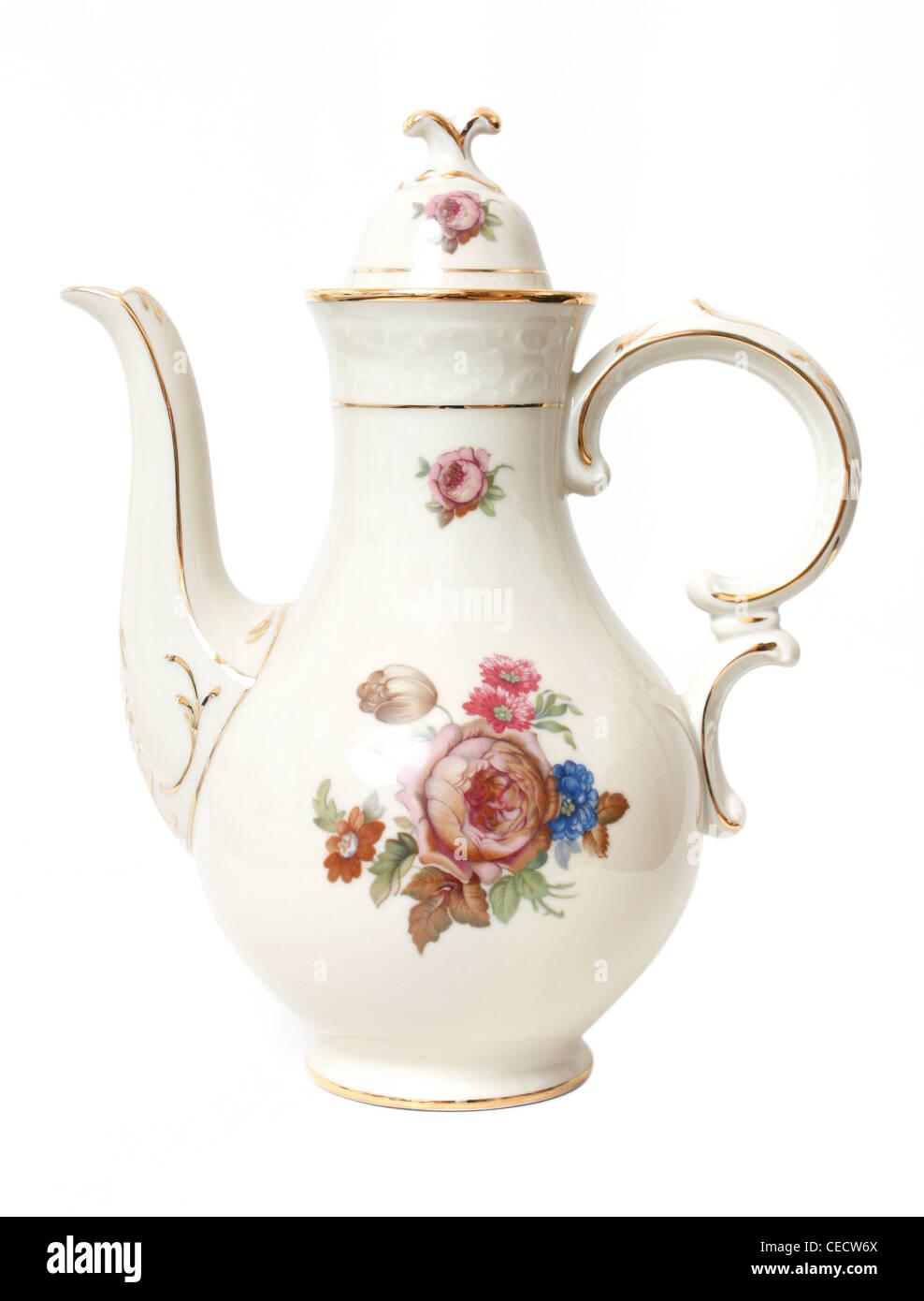 Decorative tea pot - Stock Image