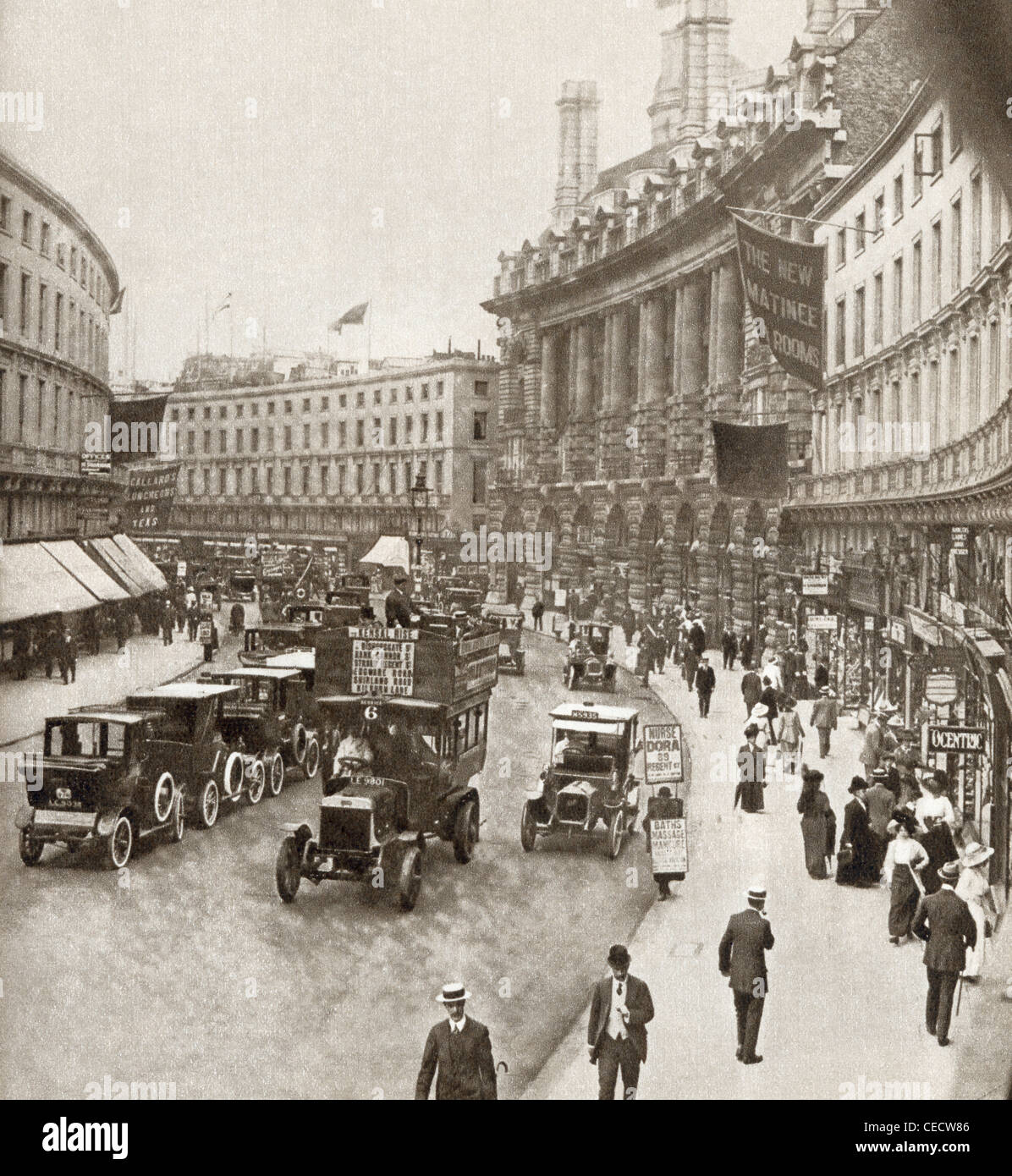 Regent Street, London, England in 1912. From The Story of 25 Eventful Years in Pictures, published 1935. - Stock Image