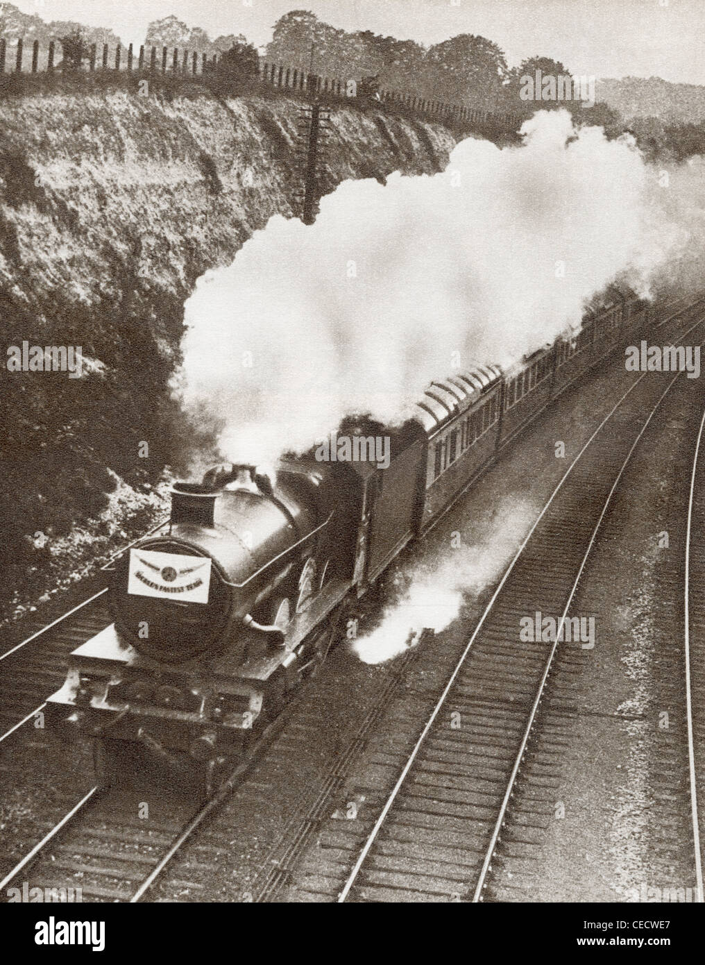 The Cheltenham Flyer aka The Cheltenham Spa Express train in 1931. - Stock Image