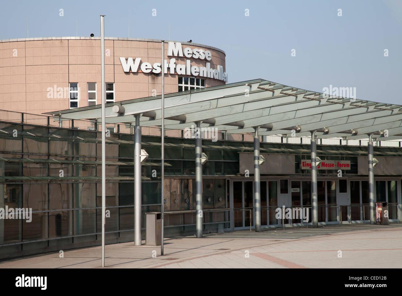 Westfalenhallen, Trade Fair Centre, Dortmund, Ruhr area, North Rhine-Westphalia, Germany, Europe - Stock Image
