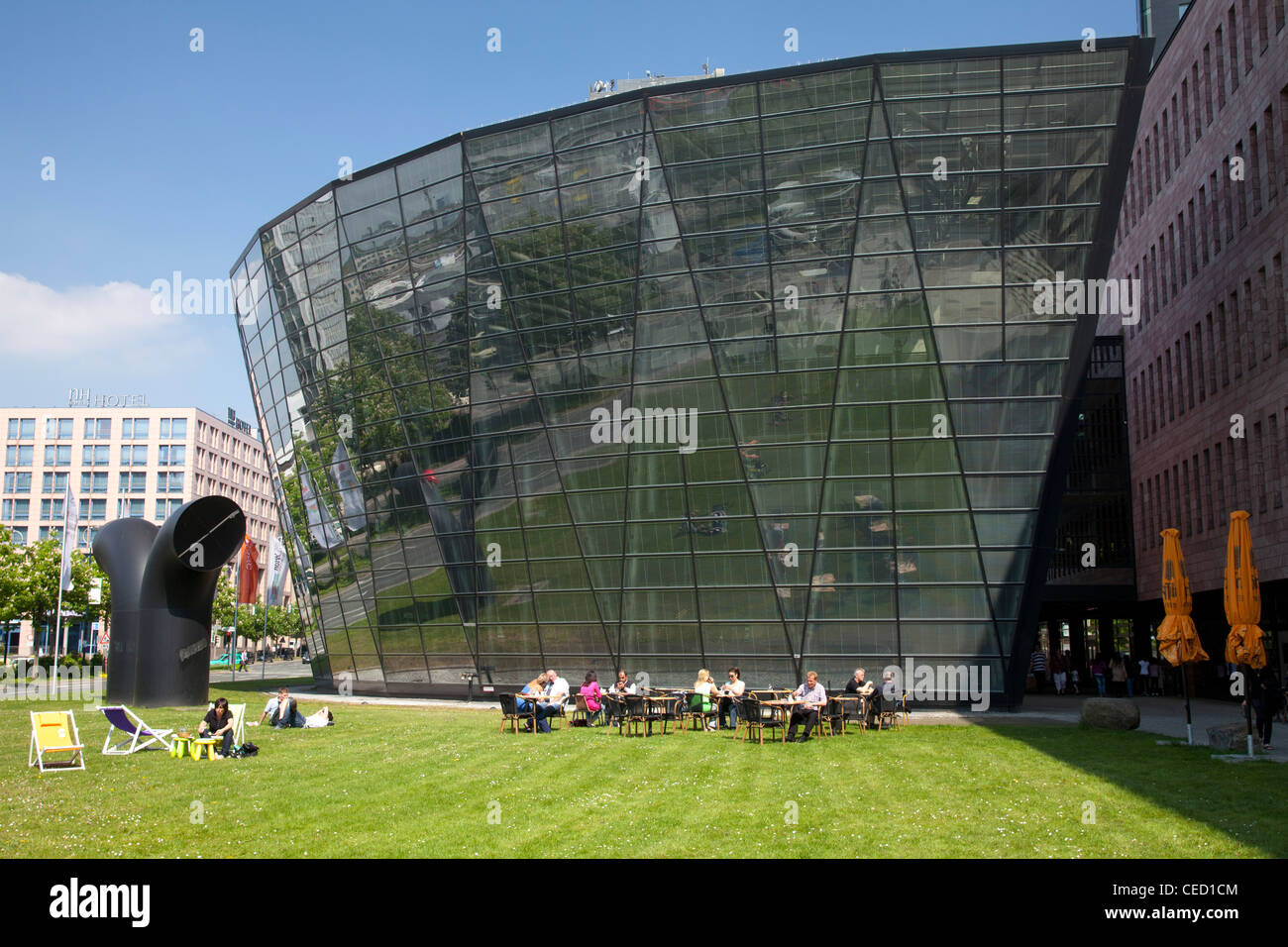 City Library and Regional Library, Dortmund, Ruhr area, North Rhine-Westphalia, Germany, Europe - Stock Image