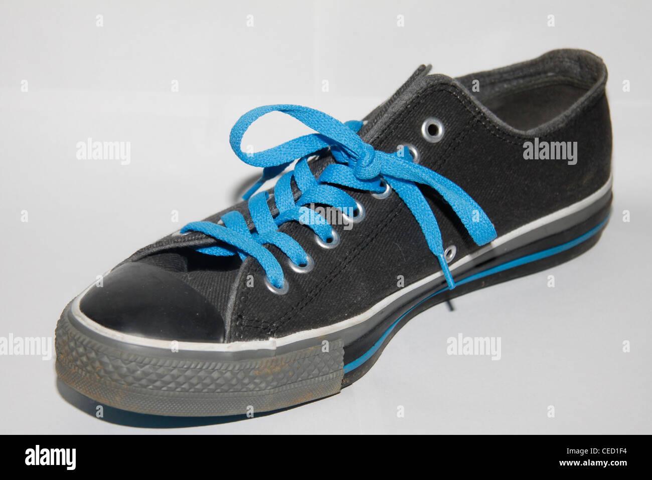 9d1f2396daae3f Black Converse Shoe Stock Photos   Black Converse Shoe Stock Images ...