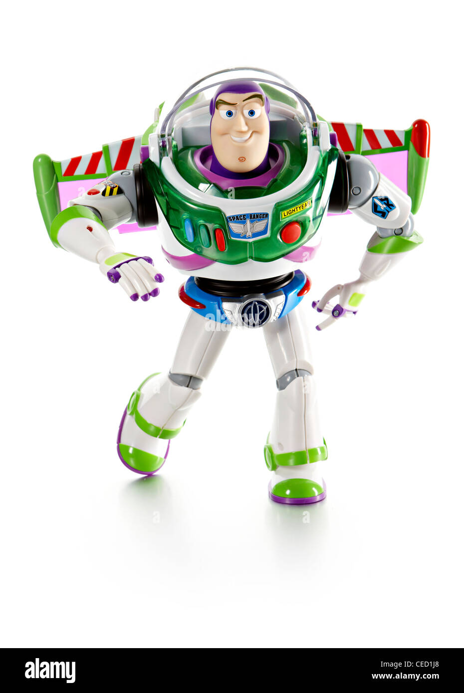 Buzz Lightyear toy story film soft toy official merchandise - Stock Image