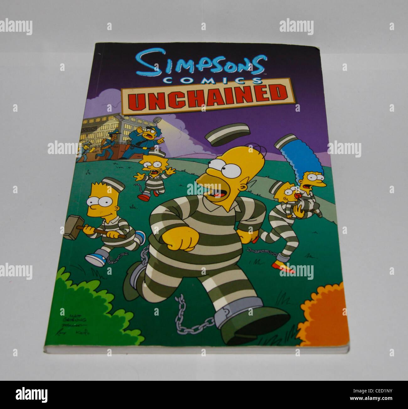 comic Simpson's magazine - Stock Image