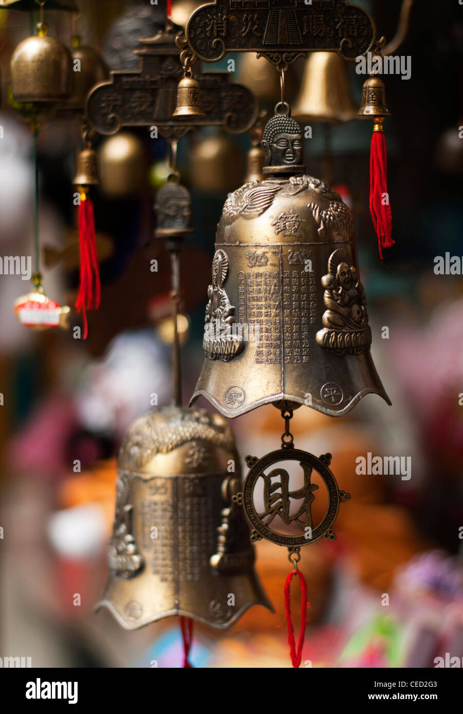 Traditional bells used in Eastern Asia - Stock Image