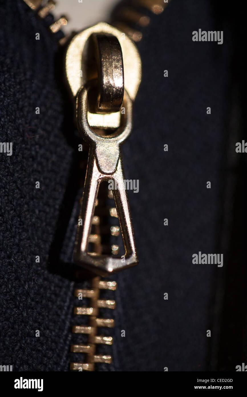 zip fastener - Stock Image