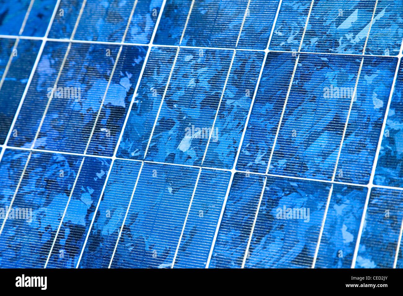 solar panel, close-up - Photovoltaik Modul, Nahaufnahme - Stock Image