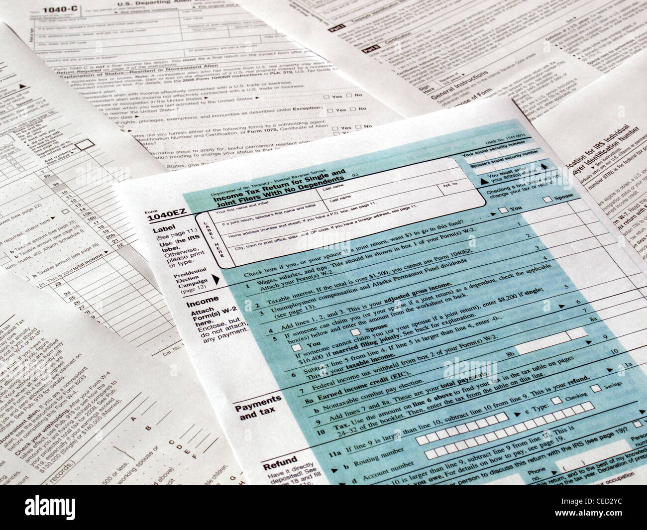 blank tax form stock photos blank tax form stock images alamy
