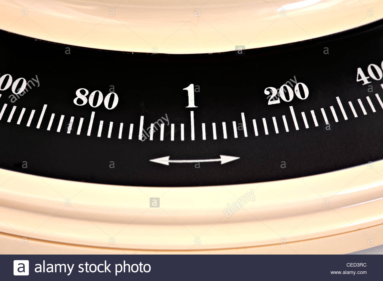 Close-up of metric scales Stock Photo