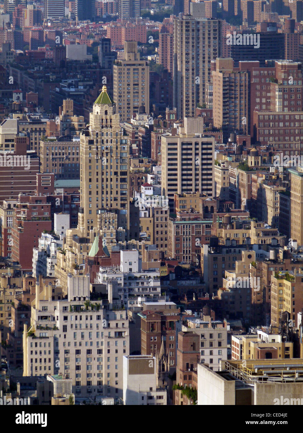 Urban landscape in Manhattan – view from Rockefeller Center to the south - Stock Image