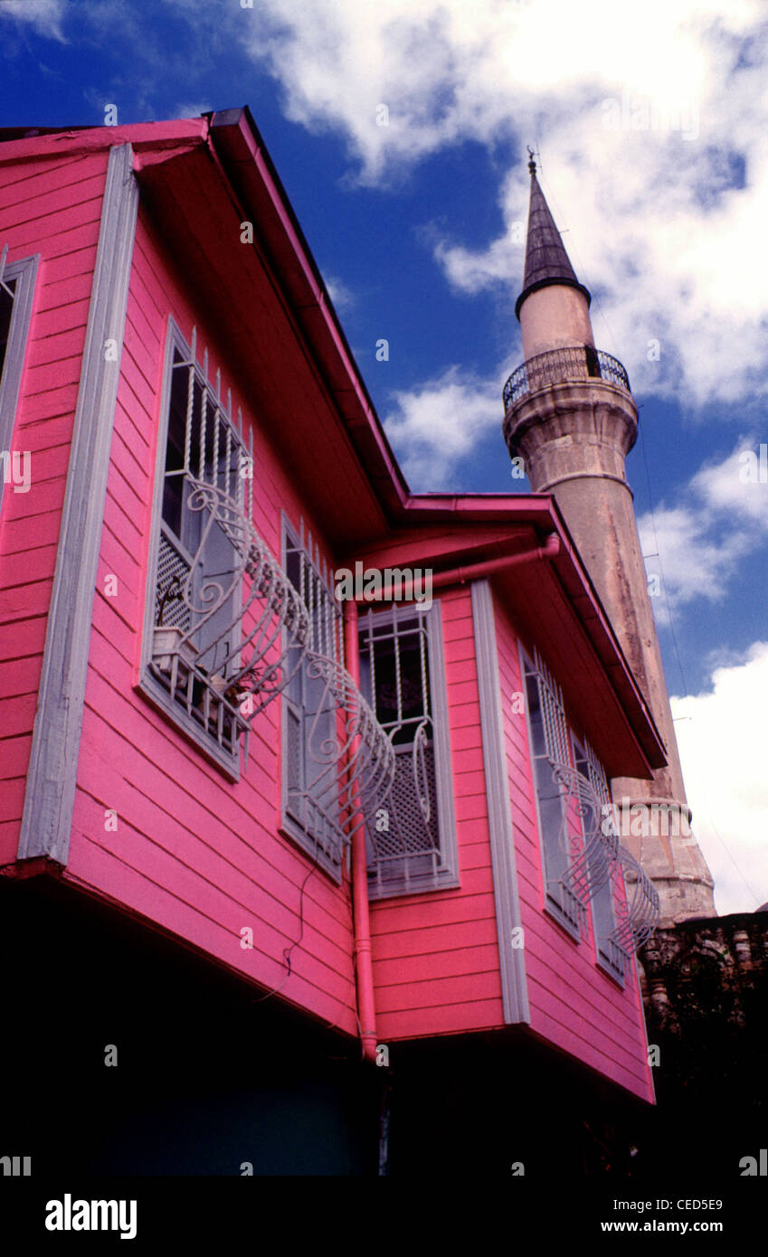 Typical clapboard house in Sultanahmet district Istanbul Turkey Stock Photo