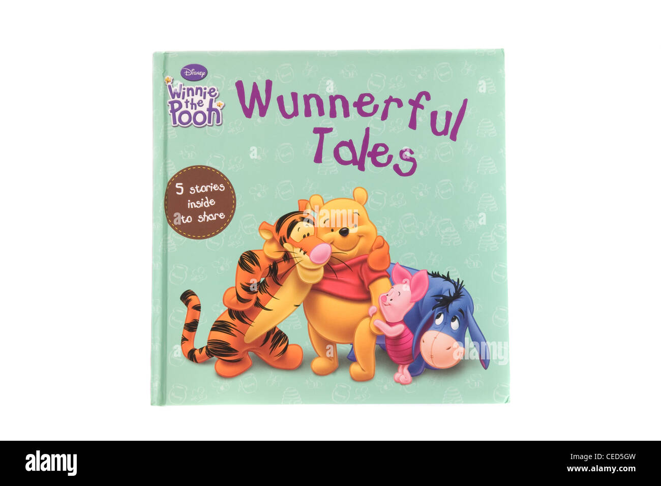 A hardback book by Disney. Wunnerful tales with Winnie the Pooh. - Stock Image