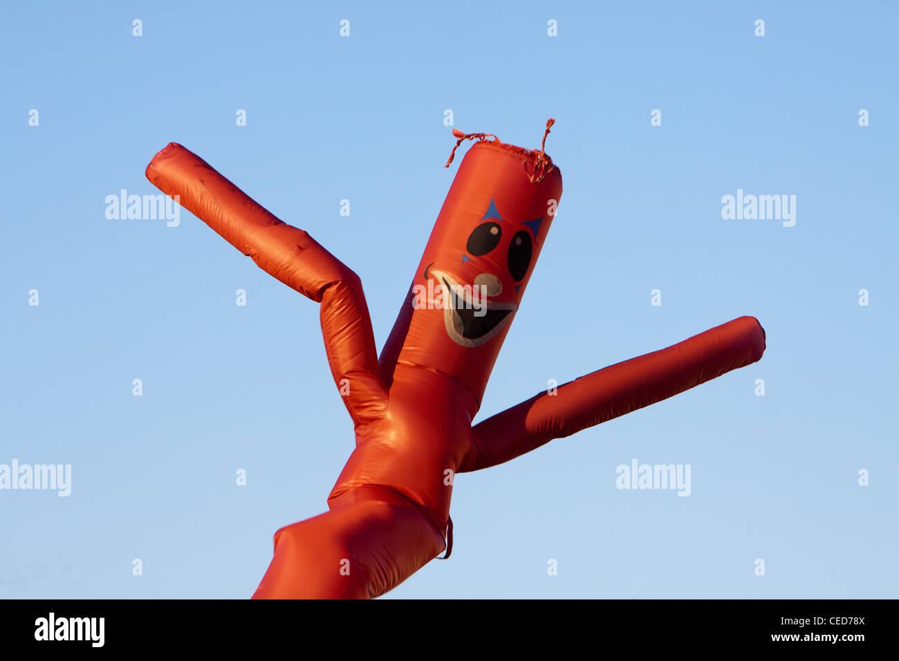 A Wacky Waving Inflatable Arm Flailing Tube Man. - Stock Image