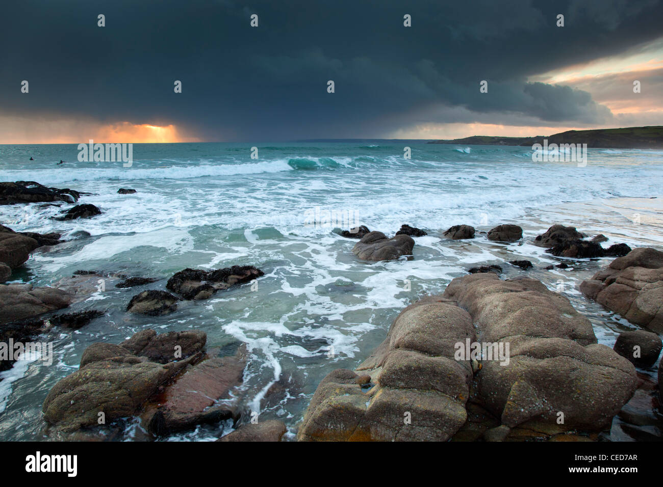 Praa Sands; looking towards Rinsey; Cornwall; UK - Stock Image