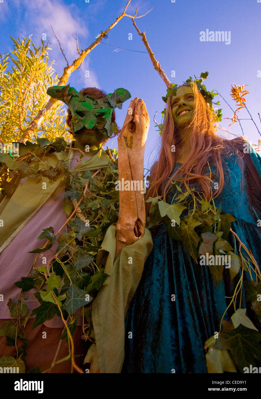 Pagan Green Man Goddess Fertility Rites - Stock Image