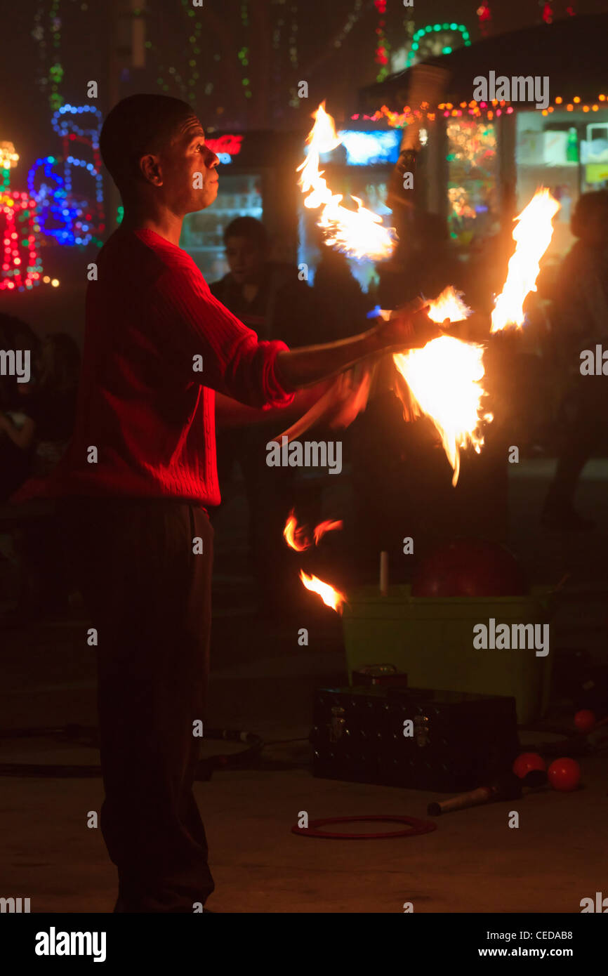 Juggling torches stock photos juggling torches stock - Moody gardens festival of lights 2016 ...
