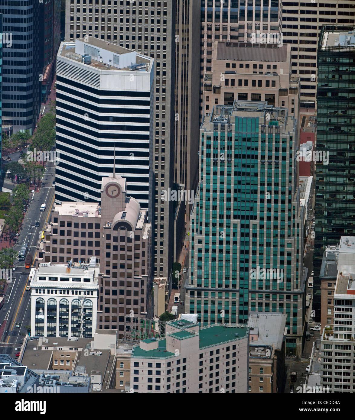 Aerial Photograph 50 Second Street 595 Market 33 New Montgomery San Francisco