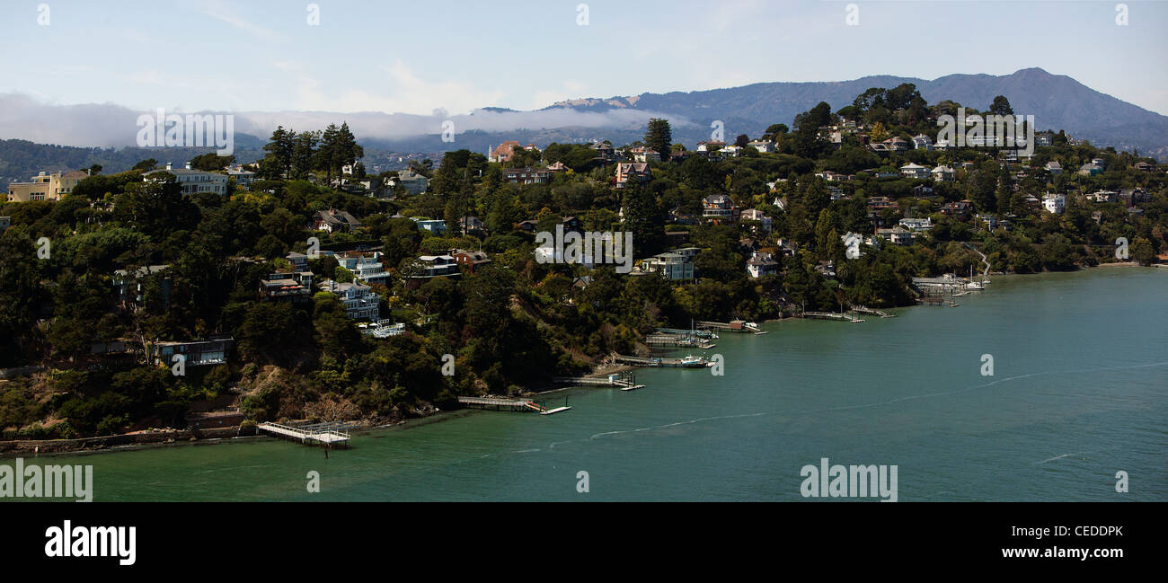 aerial photograph Belvedere Marin County, California - Stock Image