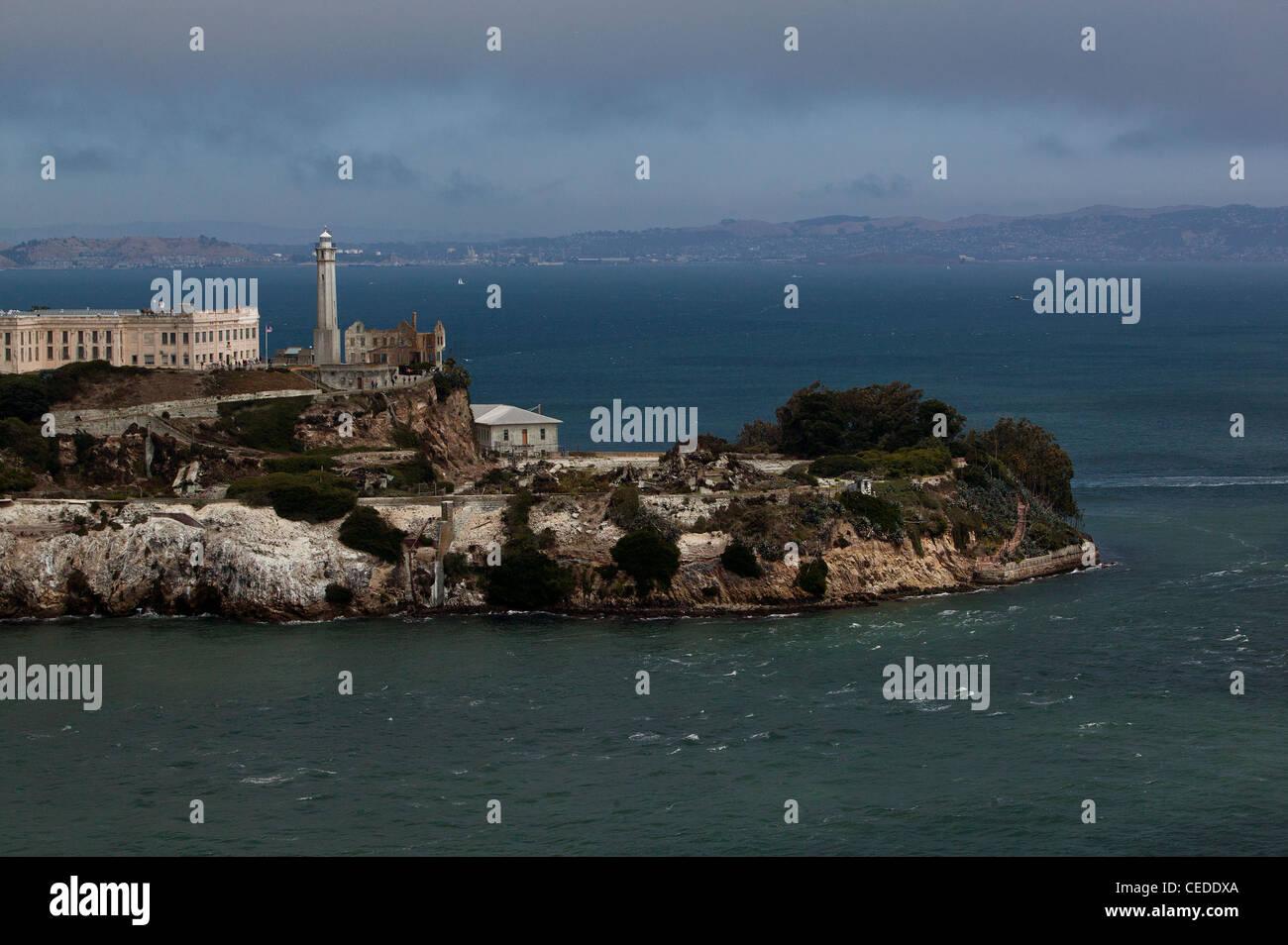 aerial photograph Alcatraz island San Francisco - Stock Image