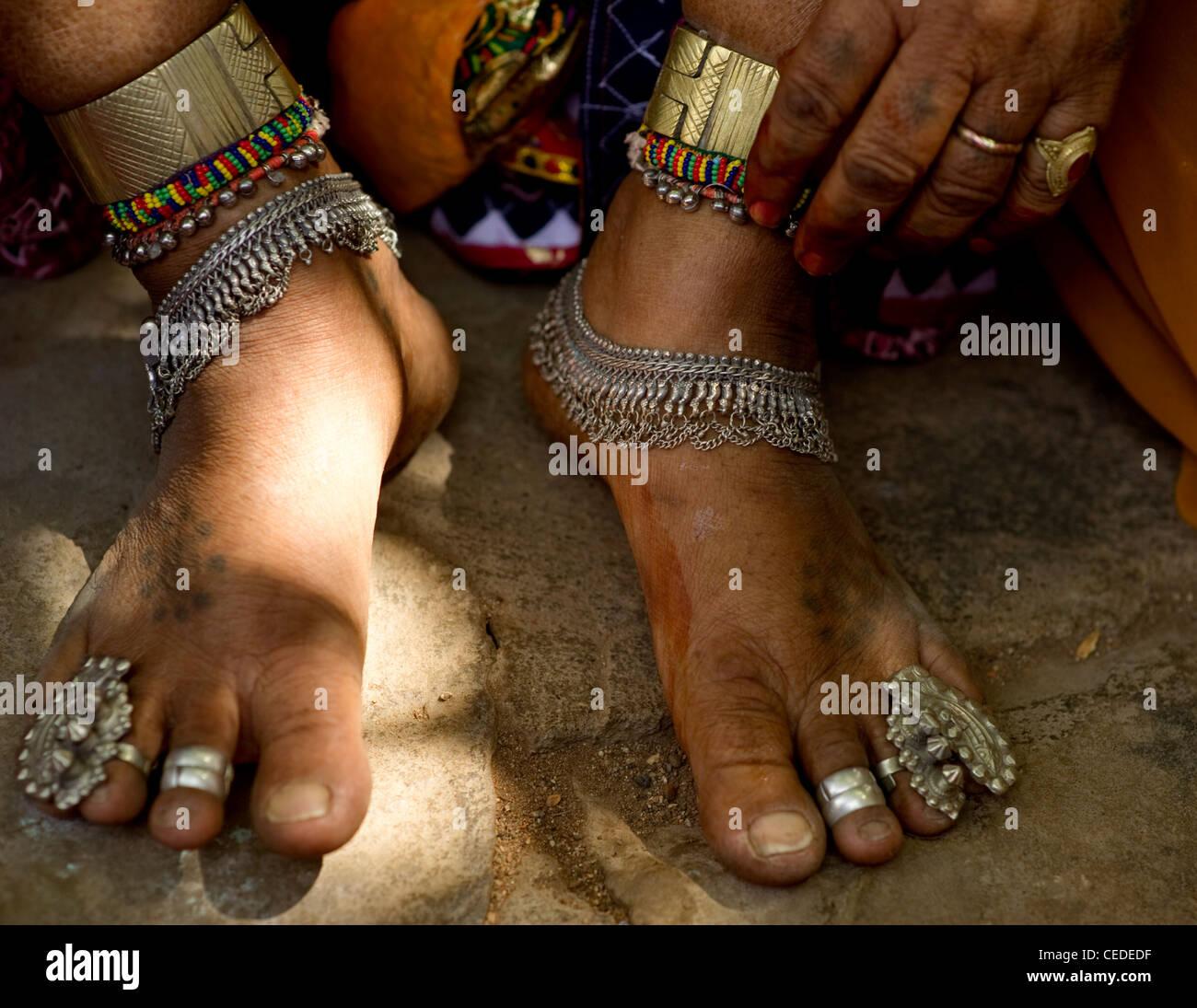 Lambani Lambani gypsy tribals - Stock Image