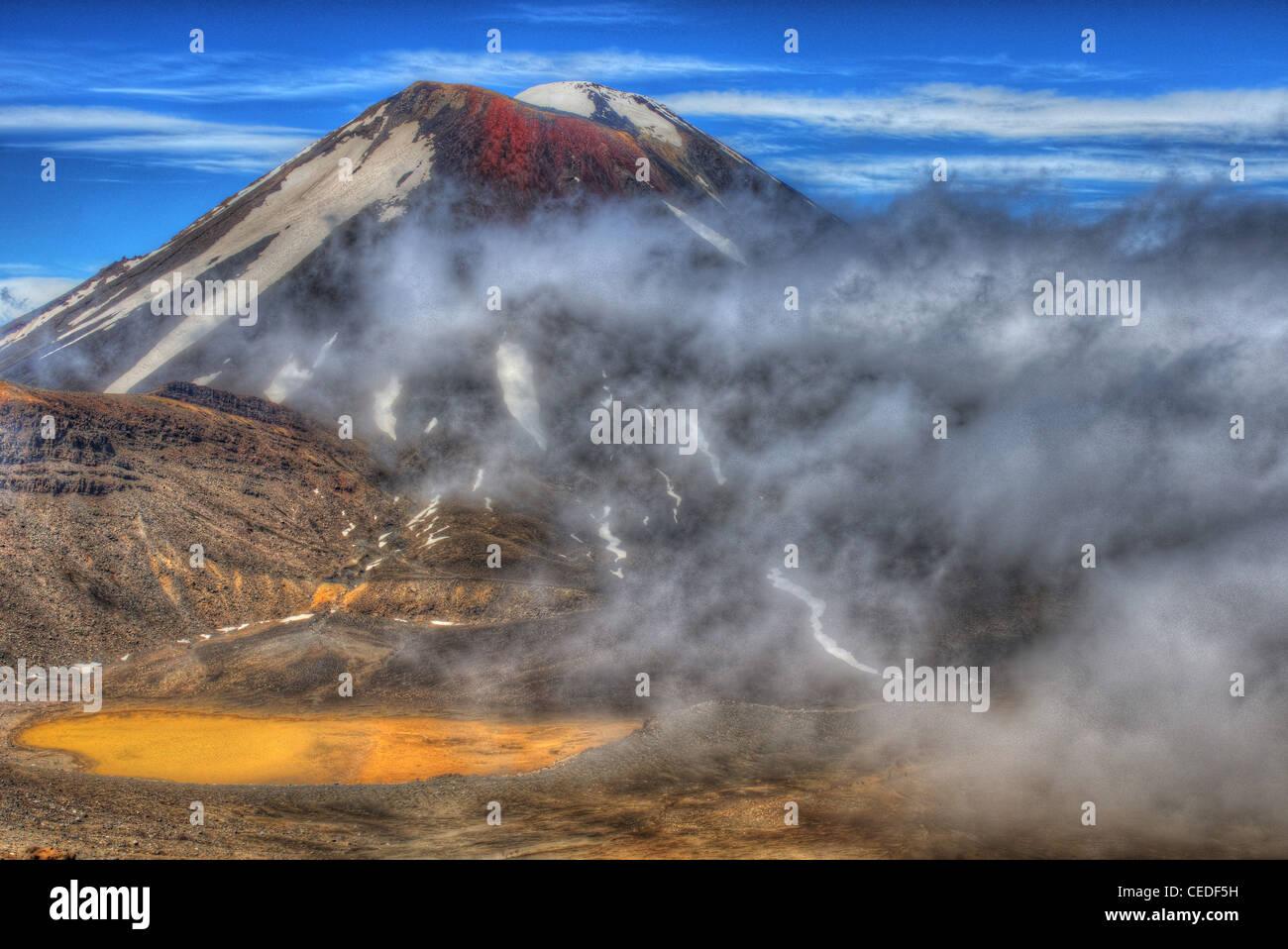 Ngauruhoe volcano in Tongariro National Park, New Zealand - Stock Image
