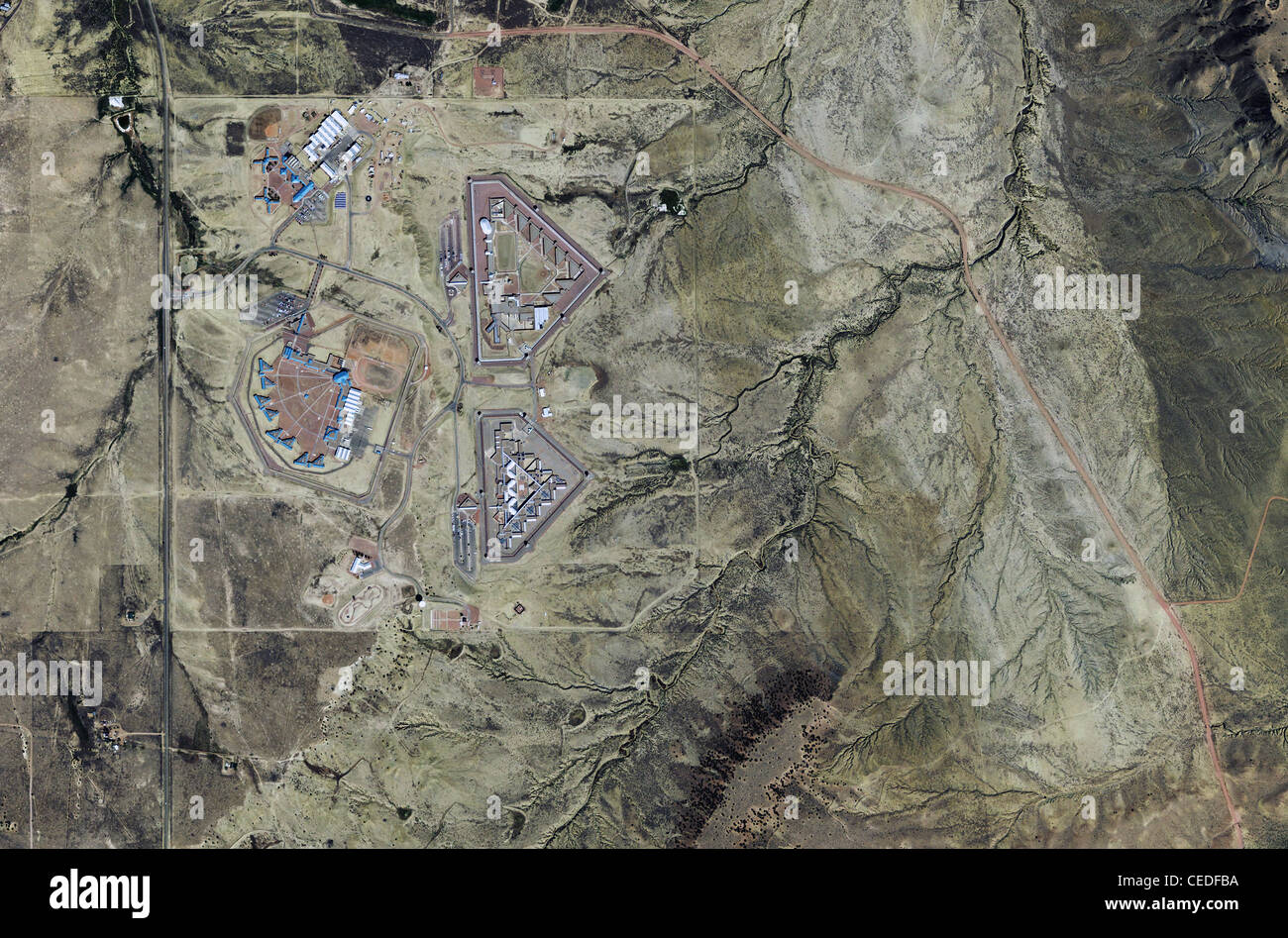 aerial photo map United States Penitentiary, Administrative Maximum Facility federal supermax prison facility Florence - Stock Image