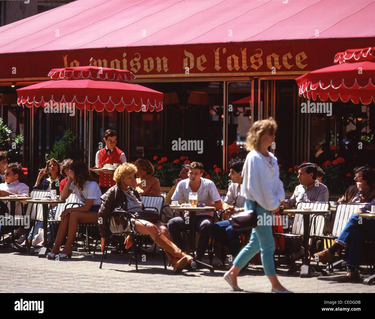 La Maison de L'Alsace restaurant, Avenue des Champs-Élysées, Paris, Île-de-France, France - Stock Image