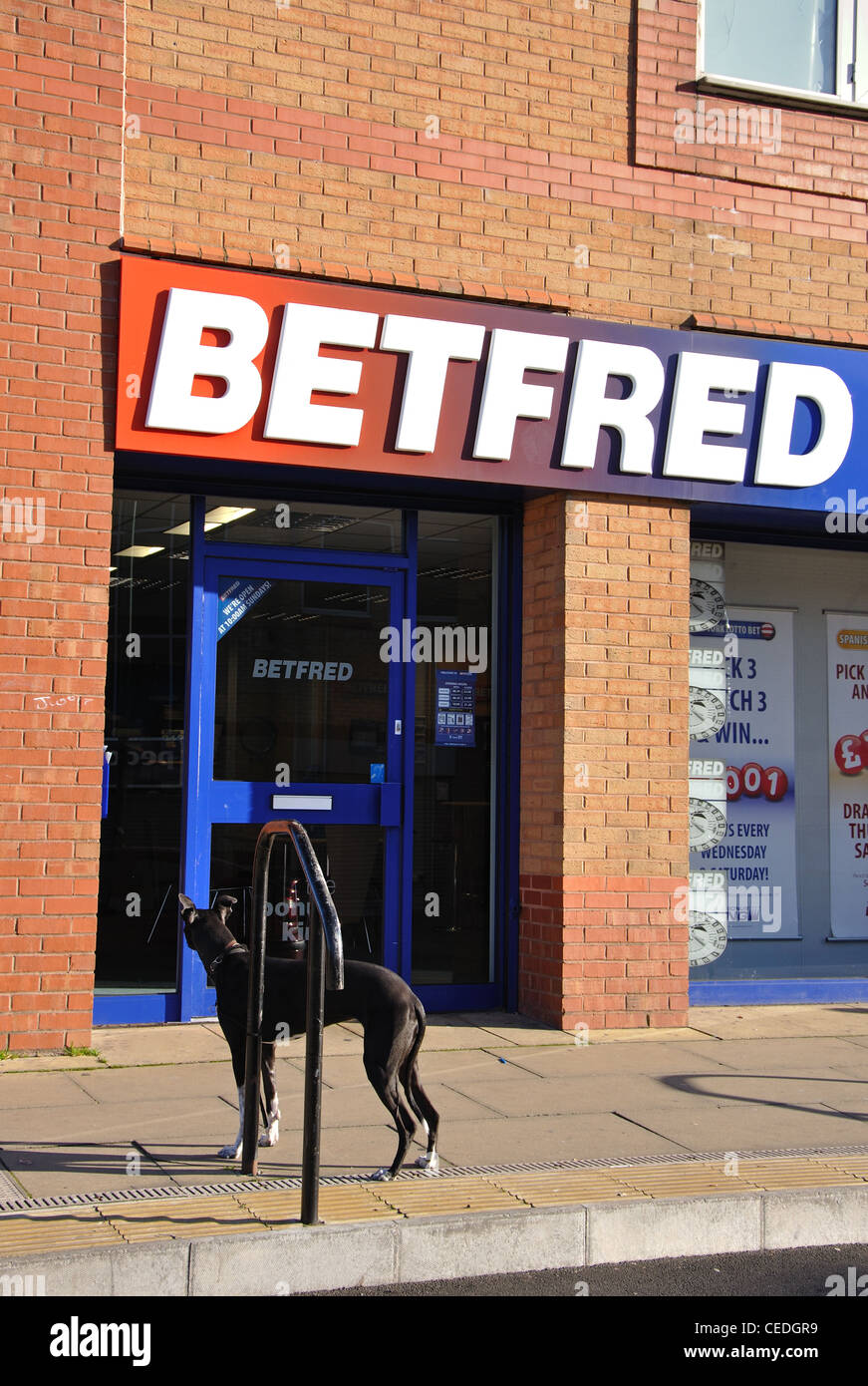 Betfred betting shop,Middle Street, Consett, Co Durham, England, UK - Stock Image