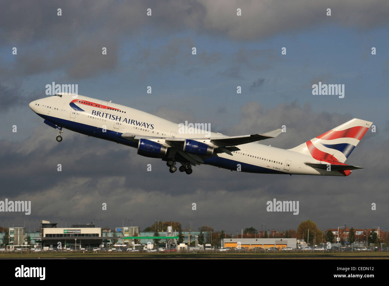 BA BRITISH AIRWAYS BOEING 747 400 - Stock Image
