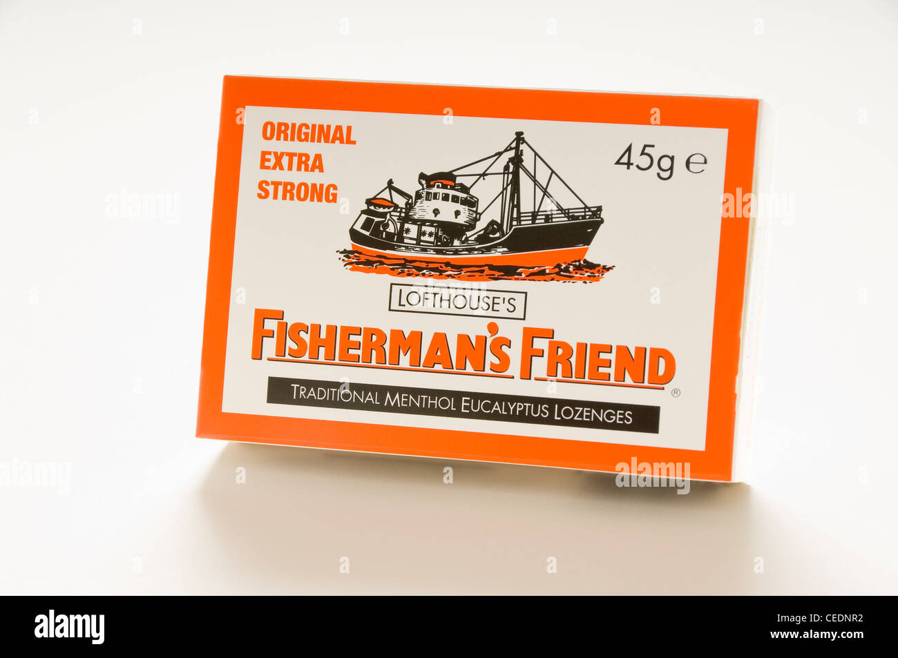 Box of Fisherman's Friend lozenges - Stock Image