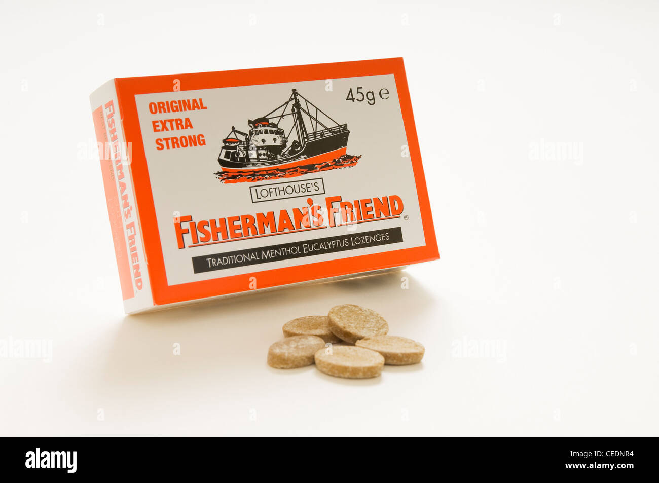 Box of Fishermen's Friend lozenges - Stock Image