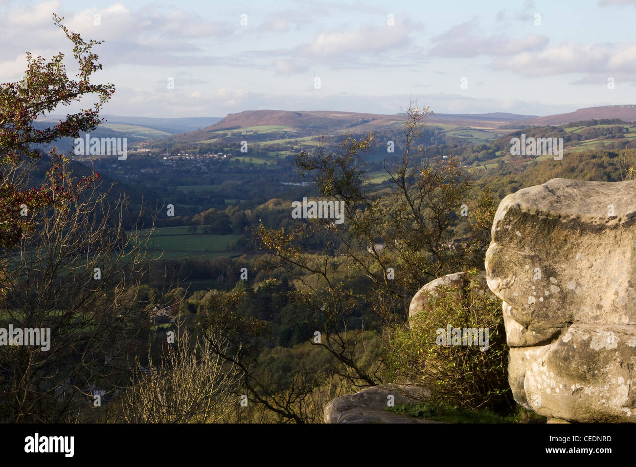 froggatt edge peak district national park derbyshire england uk - Stock Image