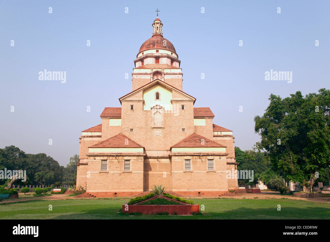 India, Delhi, Rajpath, Redemption Cathedral (Cathedral Church of the Redemption) - Stock Image