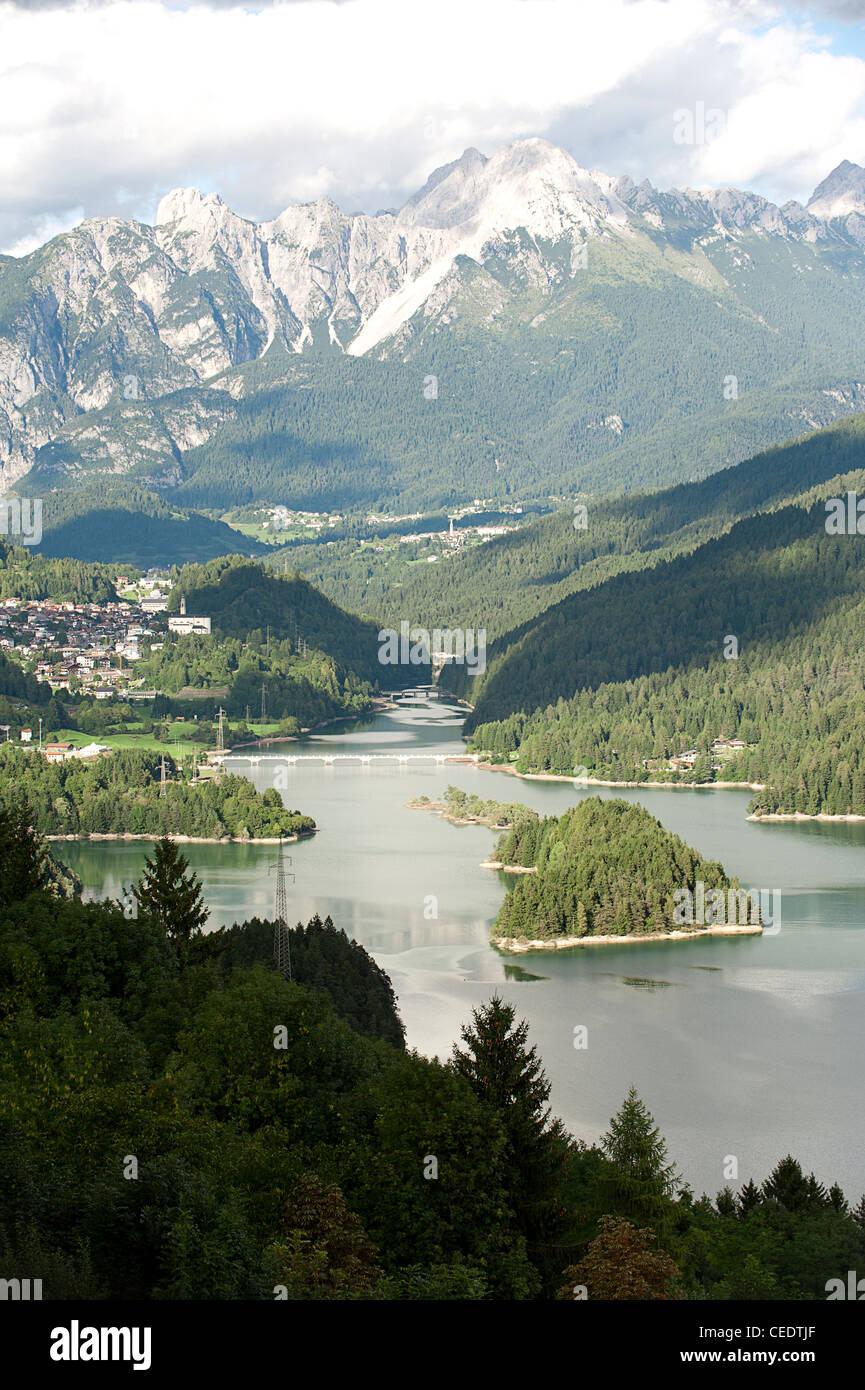 Italy, Veneto, Belluno Province, Lago di Centro Cadore - Stock Image