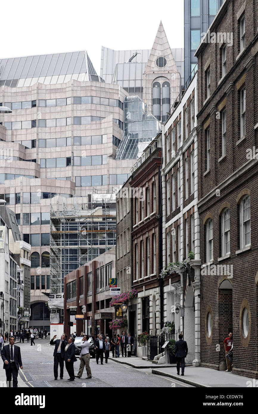 Modern and classical architecture, City of London, London, England, United Kingdom, Europe - Stock Image