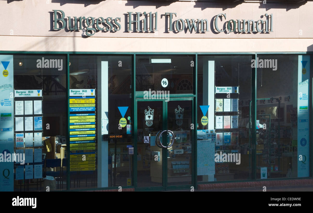 burgess hill town council office - Stock Image
