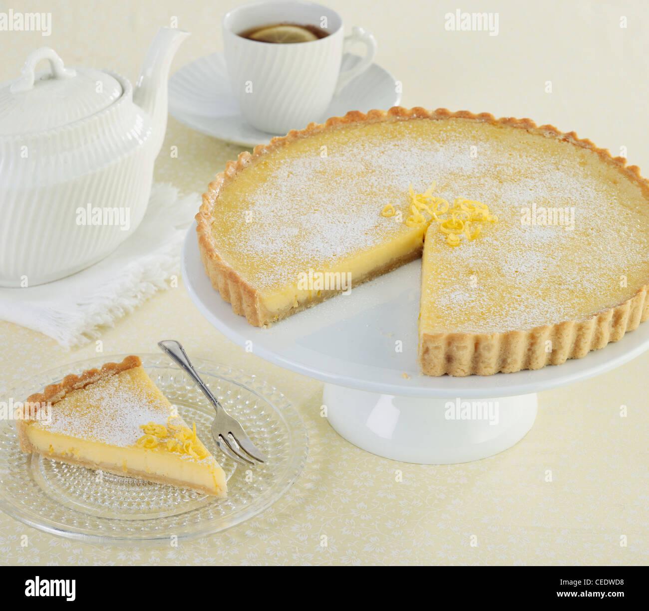 Tarte au citron, lemon tart - Stock Image