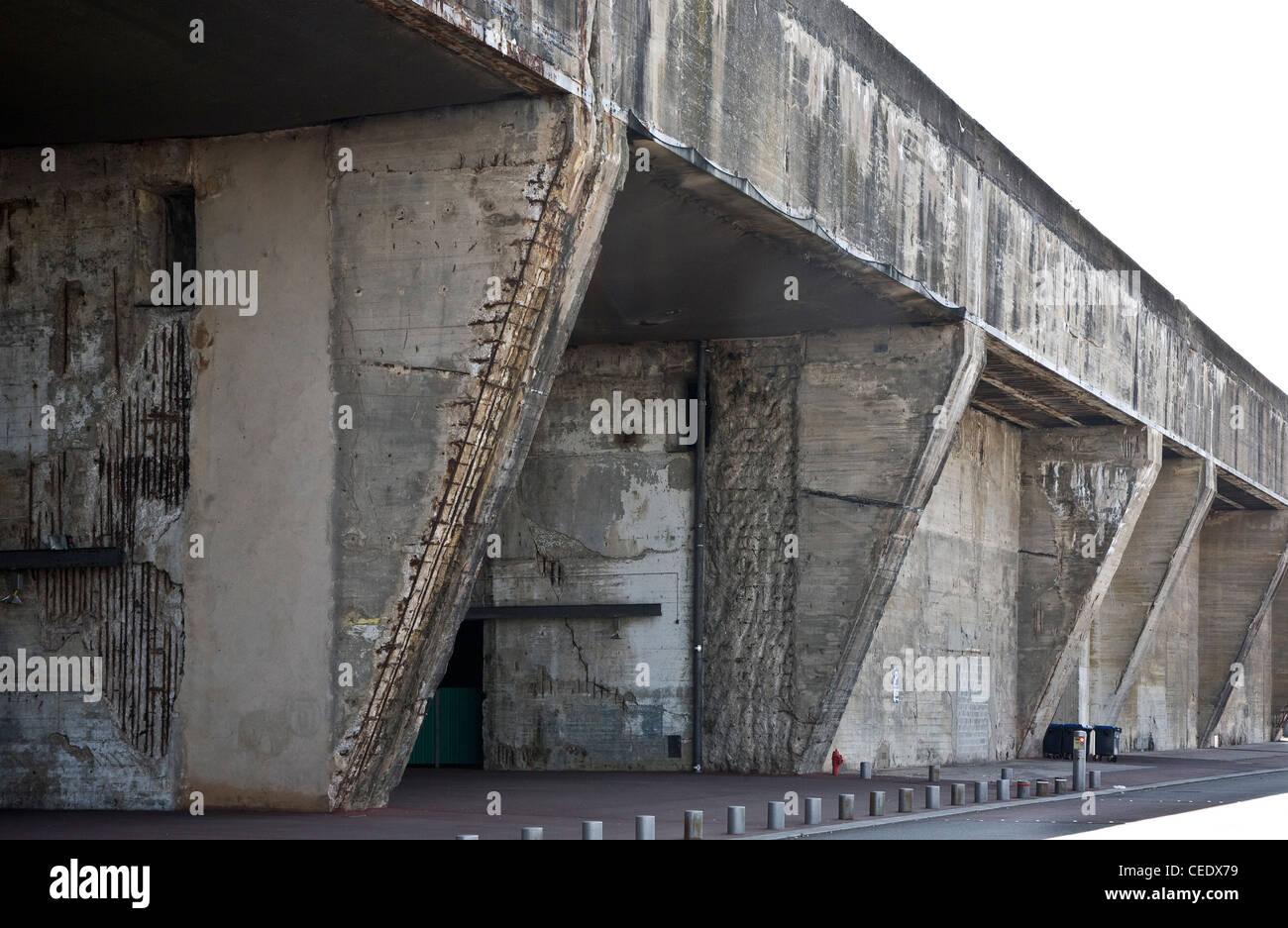 Saint-Nazaire, ehemalige deutsche U-Boot-Bunker - Stock Image
