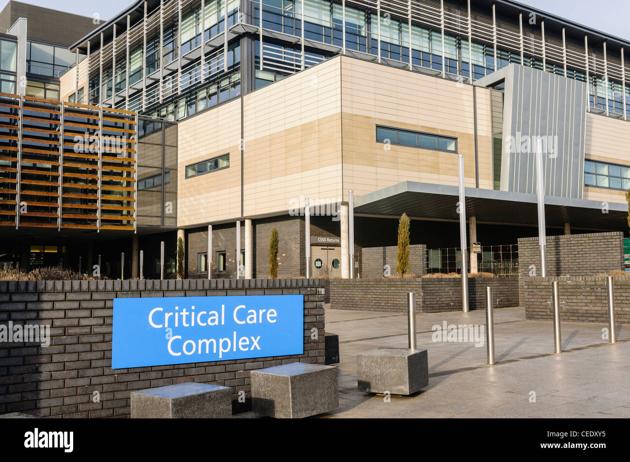 Critical Care Complex at the Ulster Hospital, Dundonald - Stock Image